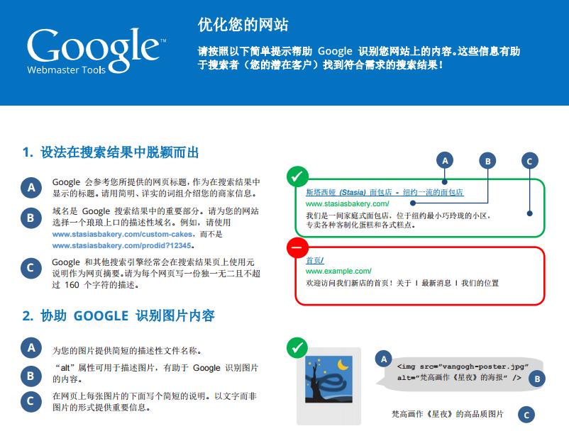 谷歌优化指南单页面版