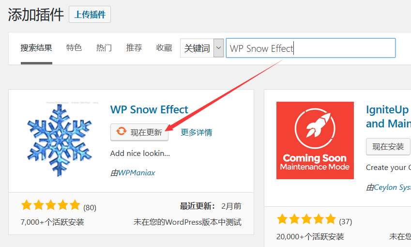 WP Snow Effect插件