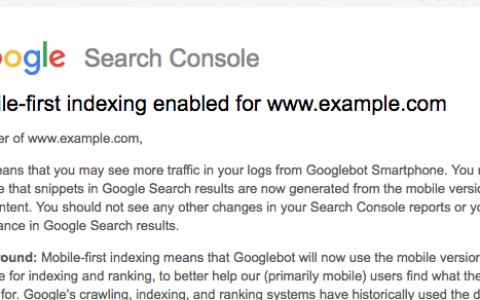 谷歌搜索开始推荐《移动优先索引》内容