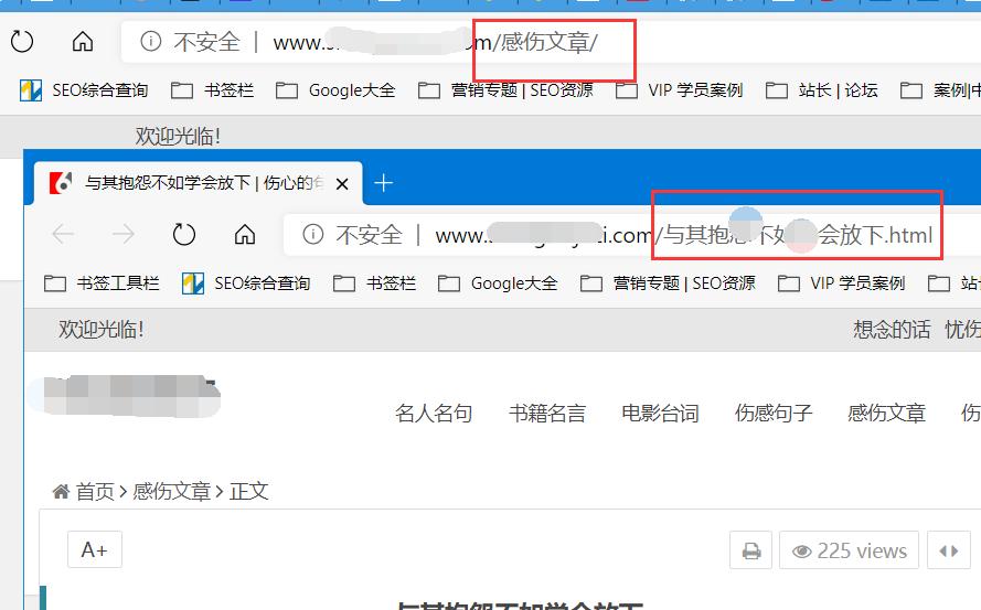 不符合SEO的网址URL