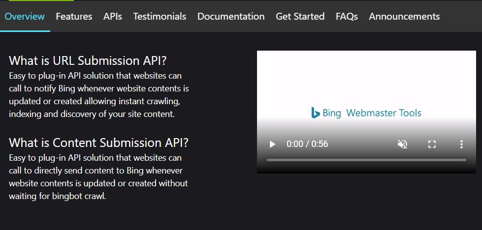 必应自动API提交